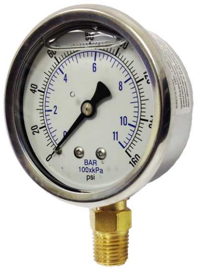 Heavy Equipment Gauges : Kodiak kc industrial pressure gauge controls